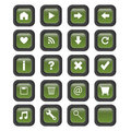 Square web buttons - vector Stock Photography