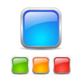 Square web buttons on white background Royalty Free Stock Photo