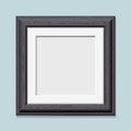 Square wooden black photo frame Royalty Free Stock Photo