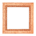 Square Wooden Frame Royalty Free Stock Photos