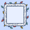 Square wooden frame Royalty Free Stock Photo