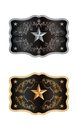 Squared buckle western style with lone star of texas Stock Image
