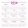 Squared calendar elegant file easy to edit and apply Royalty Free Stock Images