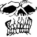 Squared faced skull illustrated avatar Stock Photo