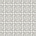 Squared seamless pattern with symmetric geometric ornament.