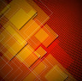 Squares abstract background red yellow and orange with shapes Stock Photos