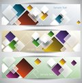 Squares abstract banners template vector illustration Stock Photo