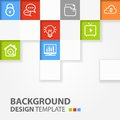 Squares background vector template for interface or infographic Royalty Free Stock Photography