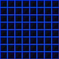 Squares of black stone with blue streaks of energy. Seamless vector texture. Technology seamless pattern.