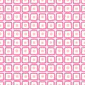 Squares with circles - calm seamless pattern.
