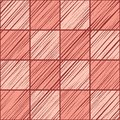 Tile square, seamless background, pink, vector. Royalty Free Stock Photo