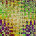 Mosaic of squares elements in rainbow colors