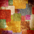 Squares on the grunge wall Royalty Free Stock Photo