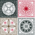 Squares with Indian ornaments Stock Images