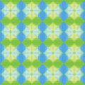Squares pattern blue and green background