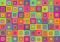 Squares pattern very colorful and playful Royalty Free Stock Photo