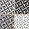 Squares patterns set of seamless black white and grey abstract geometric vector file is eps all elements are grouped by colors Royalty Free Stock Image