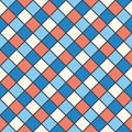 Squares red, blue, cream colour Royalty Free Stock Image