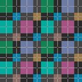 Squares seamless pattern dark gray vector.