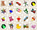 Squares with toys Royalty Free Stock Photo