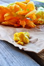 Squash Blossoms Royalty Free Stock Photo