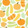 Squash harvest seamless pattern