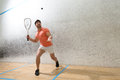 Squash player man Royalty Free Stock Photo