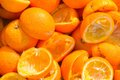 Squeezed oranged oranges used for jucing Stock Photo