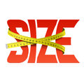 Squeezed word Size Royalty Free Stock Photo