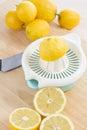 Squeezing lemons Royalty Free Stock Photo