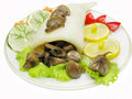 Squid meal with mushrooms Royalty Free Stock Photo