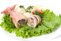 Squid stuffed with shrimp and vegetables Royalty Free Stock Photo