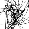 Squiggle dynamic lines. Curvy lines geometric monochrome illustr Royalty Free Stock Photo