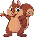 Sque the Squirrel waving hand