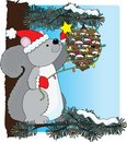 Squirrel Christmas Royalty Free Stock Images