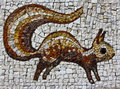 Squirrel mosaic picture on belgrade s zoo wall Royalty Free Stock Photo