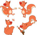 The squirrels clip art cheerful red fluffy company of Stock Images