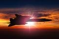 SR-71 Blackbird spy plane Royalty Free Stock Photo