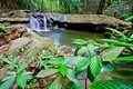Sra nang manora phangnga nation forest waterfall park Royalty Free Stock Photos