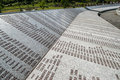 Srebrenica genocide memorial part of the on june in potocari bosnia and herzegovina more than victims are buried in the million Stock Photo