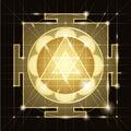 Sree  Ganapati Yantra. Sacred Geometry Royalty Free Stock Photo