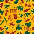 Sri-lanka country symbols color seamless pattern eps10