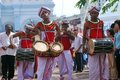 Sri Lankan drummers in Wesak festival Stock Photos