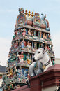 Sri mariamman temple singapore an indian near china town Stock Photos