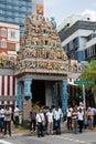 Sri Veerama Kaliamman Temple in Little India, Singapore Royalty Free Stock Photo