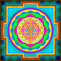 Sri yantra illustration of the holy Royalty Free Stock Image