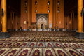 Srinagar Main Mosque Prayer Hall People Praying H Royalty Free Stock Images