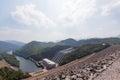 Srinakarin dam  in kanjanaburi, thailand Stock Image