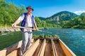 Sromowce Nizne, Poland - August 25, 2015. Dunajec River Gorge Royalty Free Stock Photo