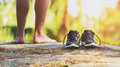 Ss country runner, legs and shoes detail Royalty Free Stock Photo